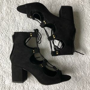 Zara basic collection lace up sandals